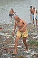 Hindu Devotee Returning After Holy Dip In Ganga - Makar Sankranti Observance - Kolkata 2018-01-14 6722.JPG