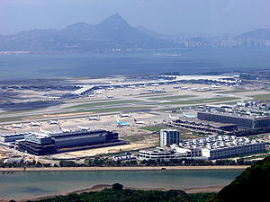 Hong Kong International Airport - View of the airport from the Ngong Ping 360 cable car