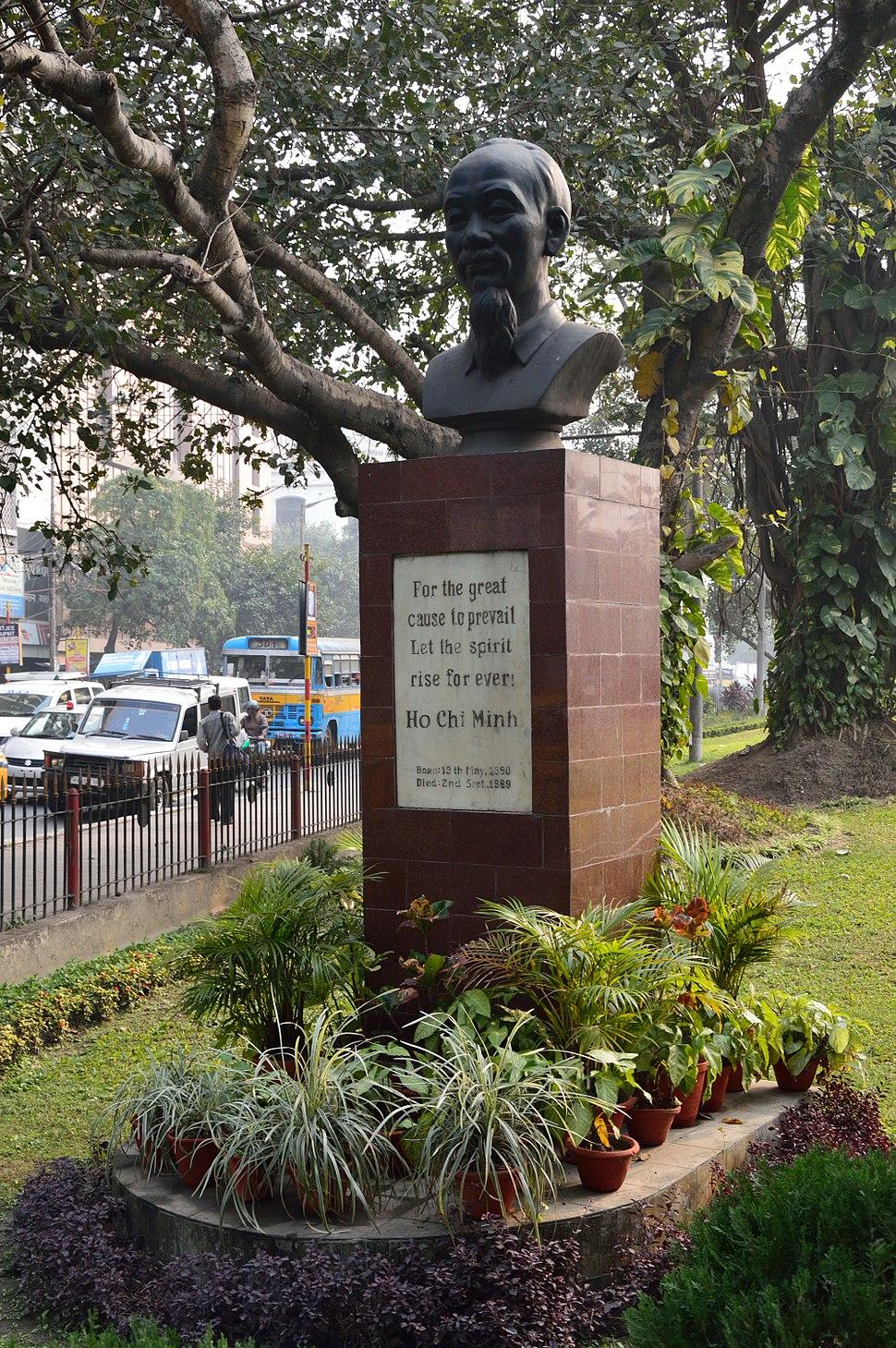 Ho Chi Minh - Bust - Chowringhee Road - Kolkata 2013-01-05 2465