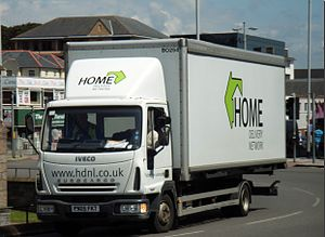 Yodel (company) - A Home Delivery Network lorry