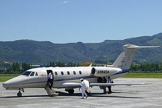 Cessna Citation III - Spanish Navy Citation VII, doors open