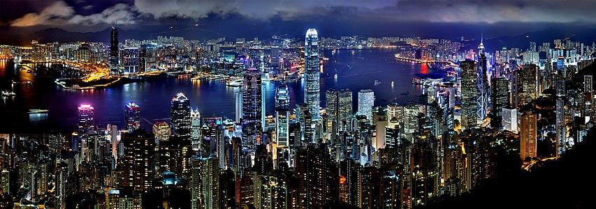 Hong Kong Night Skyline2
