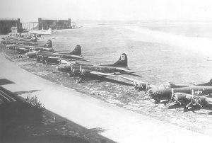 RAF Honington - B-17s from the 3d Bomb Division at Honington Air Depot