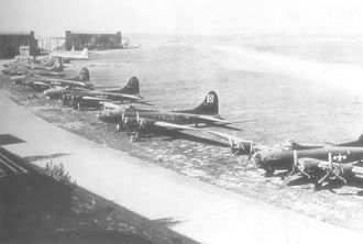 RAF Honington - B-17s from the 3d Bomb Division at Honington Air Depot