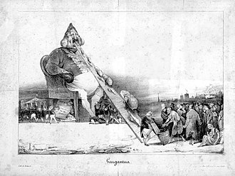 Honoré Daumier - A lithograph of Daumier's Gargantua, 1831