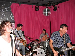 Hot Snakes - Left to right: Froberg, Wood, Kourkounis, and Reis in 2011