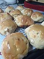 Hot cross buns made from recipe on wikibooks.jpg