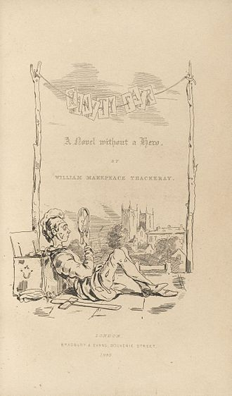 William Makepeace Thackeray - Title-page to Vanity Fair, drawn by Thackeray, who furnished the illustrations for many of his own books
