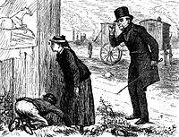 Illustration en noir et blanc d'une édition américaine de 1876