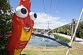 Huka Prawn Park's mascot Shawn the Prawn.jpg