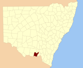 Hume County - Location in New South Wales