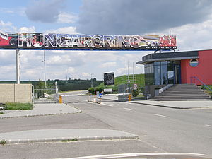 Mogyoród - An entrance of the Hungaroring