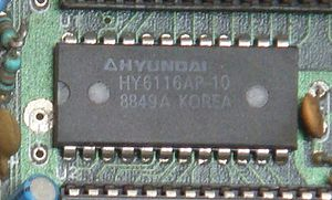 Static random-access memory - A static RAM chip from a Nintendo Entertainment System clone (2K × 8 bits)