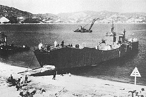 No.101-class landing ship - Image: IJN landing ship No 149 on test