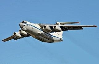 Ilyushin Il-76 Russian heavy military transport aircraft