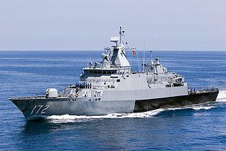Kedah-class offshore patrol vessel - Image: IMDEX 2007 Malaysian ship (523652840)