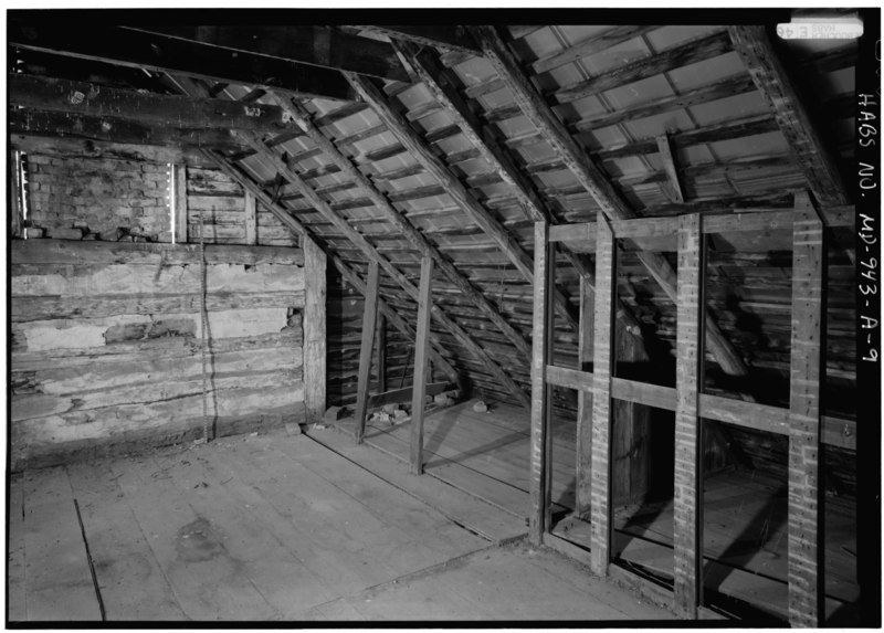 File:INTERIOR VIEW SECOND FLOOR SOUTH CORNER, WITH SCALE - Otto Farm, House, Burnside Bridge Road, Sharpsburg, Washington County, MD HABS MD,22-SHARP.V,33-A-9.tif