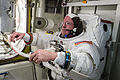 ISS-42 EVA spacesuit checks Barry Wilmore.jpg