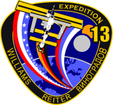 Description de l'image ISS expedition 13 patch with reiter.png.