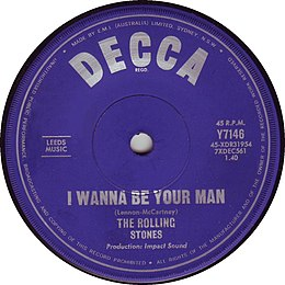 I Wanna Be Your Man by The Rolling Stones Australian vinyl A-side.jpg