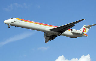 McDonnell Douglas MD-80 Jet airliner, next generation series based on the DC-9