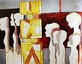 Ibrahim Kodra, Seeking new idols, 1968 oil on canvas, 80 x 100 cm.JPG