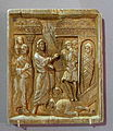 Icon with the Raising of Lazarus from the Dead, Constantinople, 10th century, ivory - Bode-Museum - DSC03497.JPG