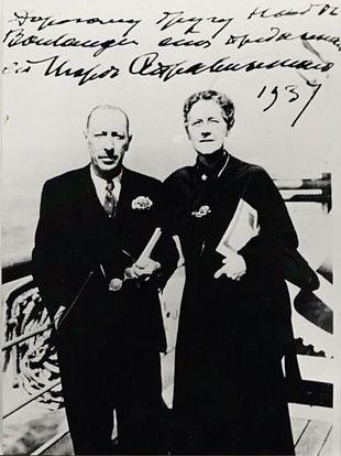 Stravinskij insieme a Nadia Boulanger nel 1937