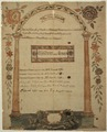 Illustrated family record (Fraktur) found in Revolutionary War Pension and Bounty-Land-Warrant Application File... - NARA - 300212.tif
