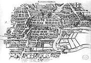 Image-Koenigsberg, Map by Merian-Erben 1652