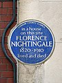 In a house on this site FLORENCE NIGHTINGALE 1820-1910 lived and died.jpg