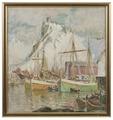 In the Harbour, Svolvaer. Study from Lofoten (Anna Boberg) - Nationalmuseum - 20462.tif