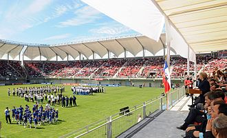 Estadio Municipal Nelson Oyarzún Arenas - Image: Inauguration of Nelson Oyarzun Municipal Stadium