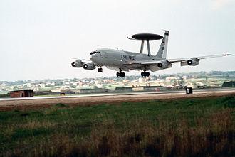 1994 Black Hawk shootdown incident - An AWACS aircraft operates out of Incirlik Air Base during OPC