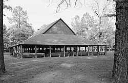 Indian Field Methodist Campground, Chapel, SC Route 73, near US Route 15, Saint George (Dorchester County, South Carolina).jpg