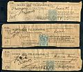 Indian telegraph receipts with Indore cancel and half stamps 1900-1904.jpg