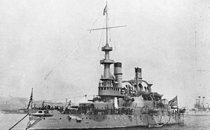 Indiana-class battleship - USS Indiana after the Spanish–American War. The ship in the background is ''Iowa''.