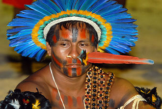 Caeté people - Feather art of Indians from the northeast of Brazil (Olinda).