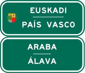 Autopista AP-68 - Image: Indicador CA País Vasco Álava