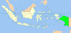 Location o Province o Papua in Indonesie