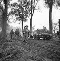 Infantry and carriers of the 15th (Scottish) Division, during the assault on Liesel, Holland, 2 November 1944. B11658.jpg
