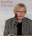 Inger Christensen laser ur ett av sina verk vid lanseringen av Nordisk litteratur til tjeneste pa Sorte diamant i Kopenhamn 2008-03-05 (1) (cropped).jpg