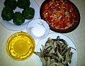 Ingrédients pour sauter les feuilles d'amaranthe (Aux 1000 saveurs de Tayap) 02.jpg