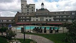 Inn At Pocono Manor Pool & Front of Main Building.jpg
