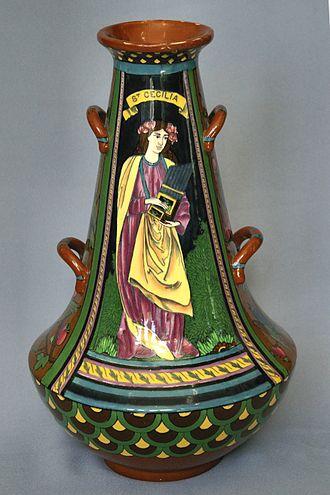 Shelley Potteries - Intarsio St Cecilia vase – Frederick Rhead 1899