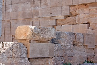 Interior stones in the Temple of Athena Lindia 2010.jpg