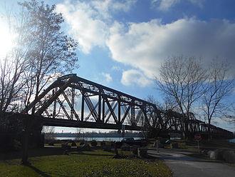 International Railway Bridge - From the United States side (2014)