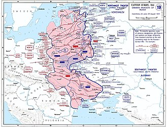 Livonia - Nazi German advances 22 June to 25 August 1941.
