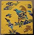 Iran, isfahan (forse), mattonella con uccelli, XVII sec.JPG
