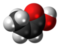 Isocrotonic acid 3D spacefill.png